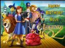 A4 Legends of Oz Personalised Edible Icing or Wafer Birthday Cake Topper